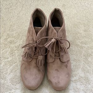 NWT Dr. Scholl's suede booties
